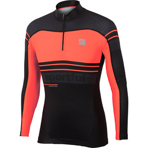 Sportful Squadra Race top fluo červený/čierny