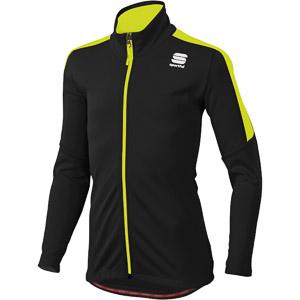 Sportful Team bunda detská čierna/fluo žltá