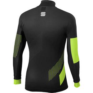 Sportful Apex bežecký top čierny/fluo žltý
