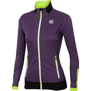 Sportful Apex GORE WindStopper bunda dámska fialová/fluo žltá