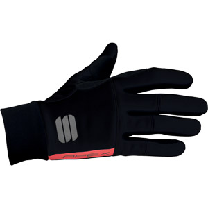 Sportful Apex rukavice tmavosivé/fluo červené
