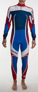 Sportful Kombinéza Salt Lake biela/modrá/červená