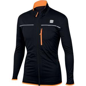 Sportful Engadin Wind bunda čierna/oranžová SDR