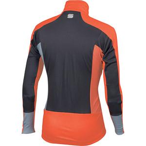 Sportful Squadra Windstopper bunda oranžová/antracitová