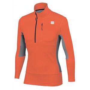 Sportful Cardio Tech mikina oranžová/sivá