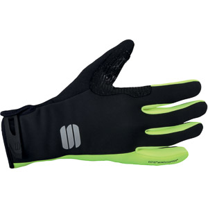 Sportful Windstopper Essential xc rukavice čierne/žlté fluo