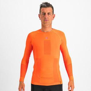 Sportful 2nd SKIN tričko s dlhým rukávom oranžové