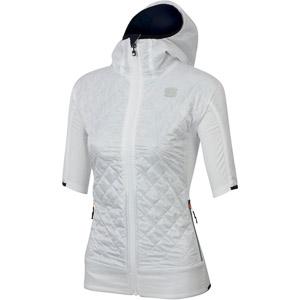 Sportful RYTHMO PUFFY dámska bunda krátky rukáv biele/čierne