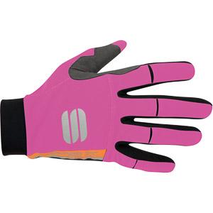 Sportful APEX LIGHT dámske rukavice čierne/žuvačkové