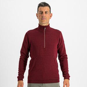 Sportful XPLORE flisová bunda vínovočervená