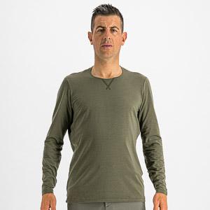 Sportful XPLORE tričko dlhý rukáv tmavozelené