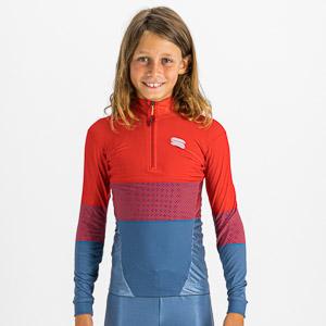 Sportful SQUADRA detský dres červený/modrý