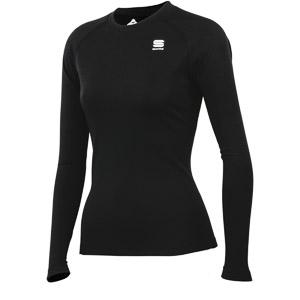 Sportful WARM Tričko dlhý rukáv dámske čierne