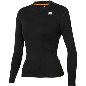 Sportful MID Tričko dlhý rukáv dámske čierne