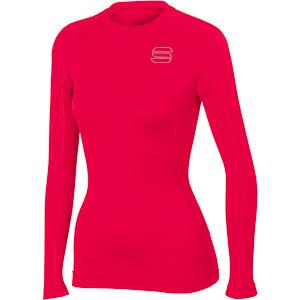 Sportful TD Mid Tričko dlhý rukáv dámske červené