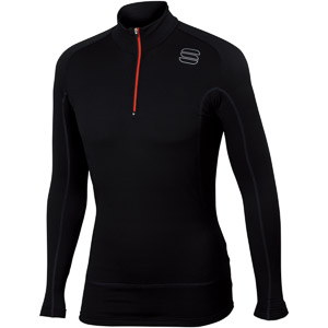 Sportful TD Mid Termo tričko so zipsom DR čierne