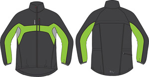 OneWay LARI Mikrovláknová bunda sivá/zelená