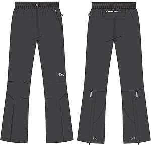 OneWay OLOS Mikrovláknové nohavice, tmavosivé