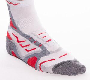 OneWay Bežecké ponožky Coolmax, biele/červené