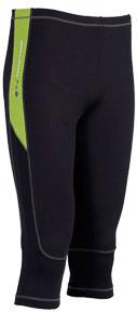 OneWay PEPE 3/4 elasťáky, čierne/zelené prvky