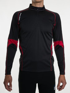 OneWay MIRO Top s dlhým rukávom, čierno-červený