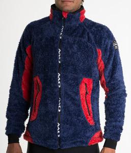 OneWay Collier flísová bunda modrá/červená
