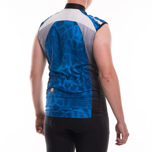 Sportful cyklodres Shell bez rukávov modrý