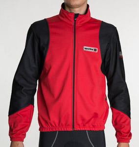 Sportful Exertion WindStopper bunda červená-čierna