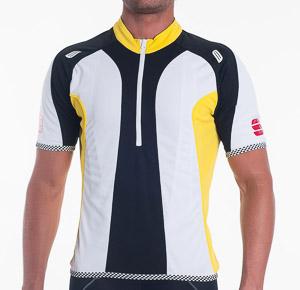 Sportful Crank Dres pánsky žltá-čierna-biela