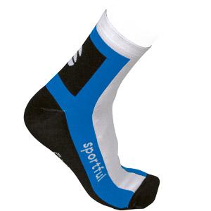 Sportful team ponožky čierna-biela-modrá