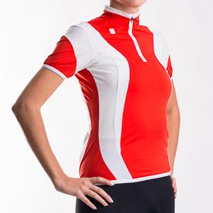 Sportful Anakonda 10 Dres dámsky červený/biely