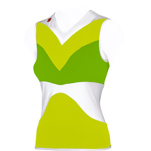 Sportful VIVID Dámsky dres bez rukávov biely/zelený