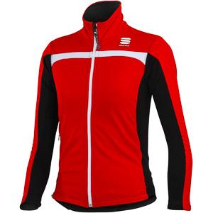 Sportful Kids Softshell detská bunda červená/čierna