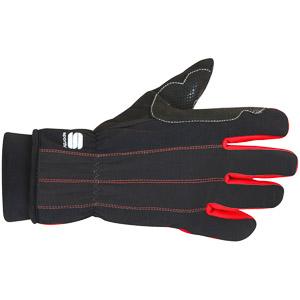 Sportful Doppio Rukavice čierna/červená
