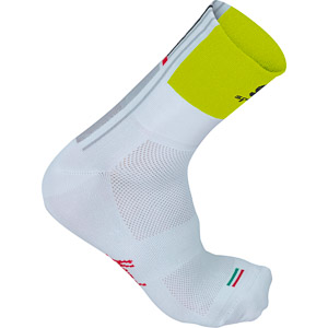 Sportful Gruppetto 12 cm Ponožky biele/fluo žlté