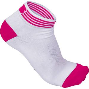 Sportful Show dámske Ponožky 3cm biela/ružová