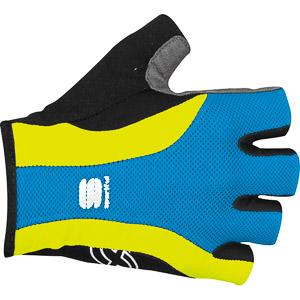 Sportful Mesh Ultra Rukavice modré/krikľavo žlté