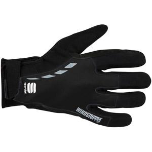 Sportful Windstopper Leggero cyklo rukavice čierne
