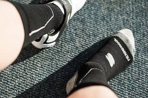 Sportful Merino Wool 16 cm zimné cyklo ponožky čierne