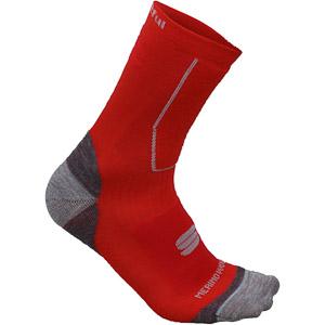 Sportful Merino Wool 16 ponožky fluo červené