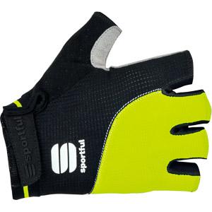 Sportful Giro krátke cyklorukavice čierne/fluo žlté