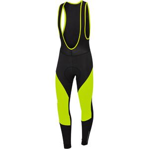 Sportful Fiandre NoRain cyklo nohavice čierne/fluo žlté