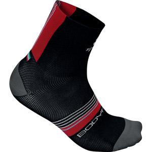 Sportful BodyFit Pro 9 ponožky čierne/červené/sivé