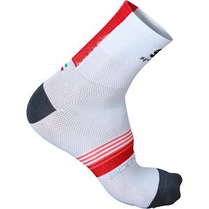 Sportful BodyFit Pro 9 ponožky biele/červené