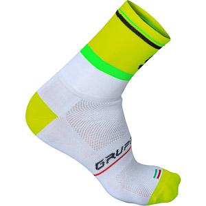 Sportful Gruppetto Pro 12 ponožky biele/fluo žlté
