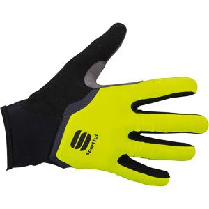 Sportful Gel dlhoprsté rukavice fluo žlté/čierne