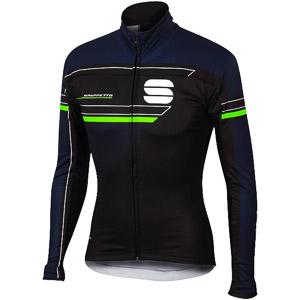 Sportful Gruppetto Windstopper bunda čierna/tmavomodrá