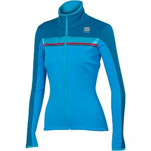 Sportful Allure SoftShell bunda tyrkysová/tmavomodrá