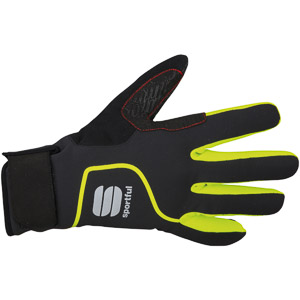 Sportful SottoZero cyklo rukavice čierne/žlté