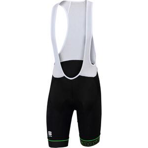 Sportful BodyFit Classic kraťasy s trakmi čierne/zelené
